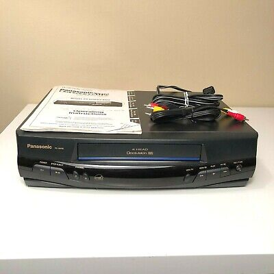 Panasonic PV-8400 4 Head VCR VHS w/ Original Manual & AV Cables TESTED & WORKING