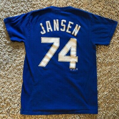 KENLEY JANSEN LA DODGERS NAME NUMBER T SHIRT MENS SMALL S #74 Blue Shirsey