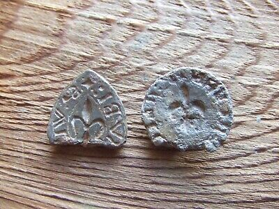 MEDIEVAL BRITAIN TWO LEAD SEAL MATRIX.   14th/15th CENTURY  NICE CONDITION.