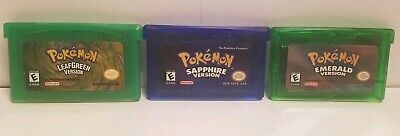 Pokemon Emerald Sapphire Leaf Green 3 Game Lot for Nintendo GBA - Reproductions