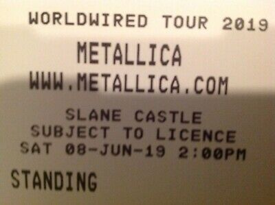 Ticket für Metallica in Dublin/Irland 08.06.19 !! Stehplatz - Slane Castle
