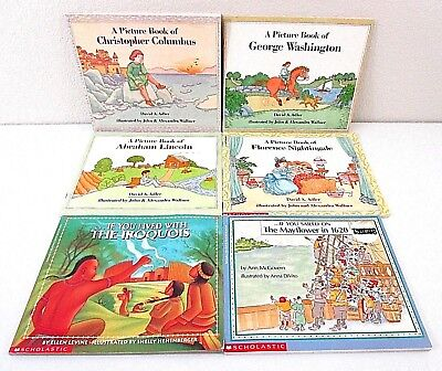Lot of 6 History Paperbacks AR Levels 3.8-5.9) If You Lived... A Picture Book of