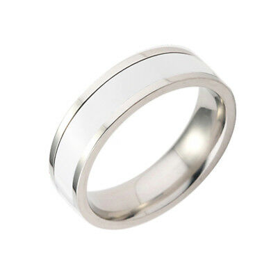 Women Men Stainless Steel Titanium Cool Band Ring Wedding Jewelry Gift Size 6