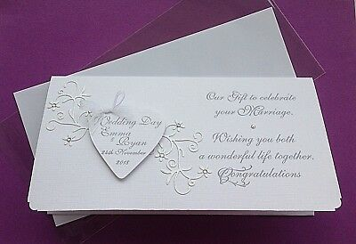Personalised Handmade Wedding Money/Voucher/Gift Card/ Wallet ANY MESSAGE/NAMES