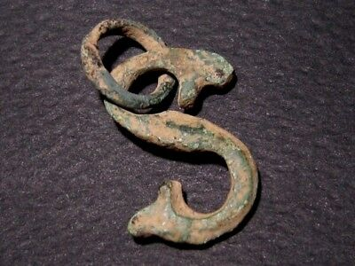 RARE ROMAN PERIOD S-Shaped AMULET PENDANT , VERY INTERESTING+++AS FOUND!!!
