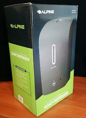Alpine Industries Gray Wall Mount Automatic Hands-Free Liquid Soap Dispenser NEW