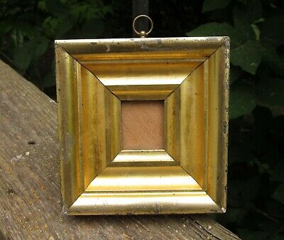 c1840 Beautiful American Victorian Sully Style Gilded Silhouette Miniature Frame