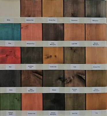Water Based Wood Stain / Wood Dye - Traditional & vibrant Colour Range