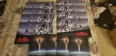 "AVENGERS ENDGAME AMC IMAX POSTER 11"" x 15.5"" Week 1 & 2 & Cap Marvel lot 12"