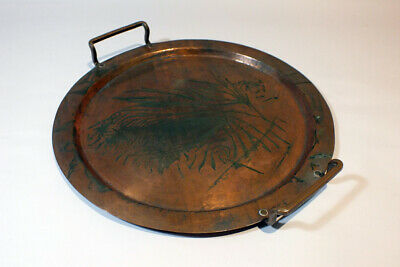 Vintage Antique Falick Novick Handwrought Copper Tray Chicago Arts & Crafts