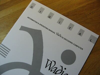Wadia 25 Decoding Computer DAC Owners Manual