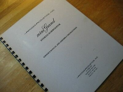 Apogee Mini Grand Subwoofer Owners Manual