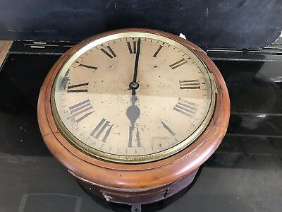 antique school wall clock