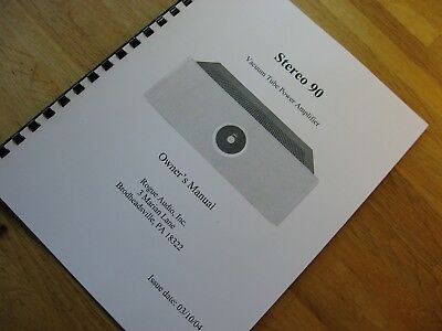 Rogue Audio Stereo 90 Power Amplifier Owner's Manual