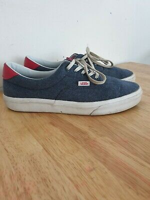 Vans Era 59 Mens Navy And Red Canvas Trainers Skate Shoes Size UK 8