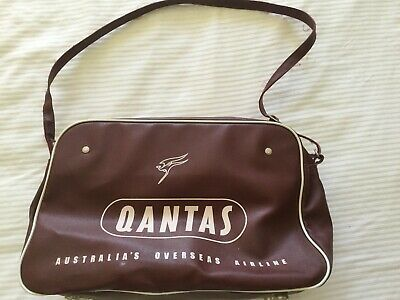 Vintage Qantas Airlines Carry On Bag