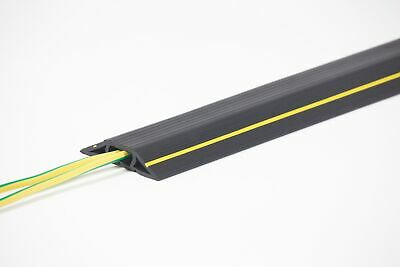 Lightweight Black and Yellow Office Cable Protector (23.5mm x 10.7mm)  Cable ...