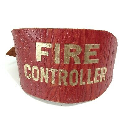 """Vintage """"FIRE CONTROLLER"""" Leather Armband"""