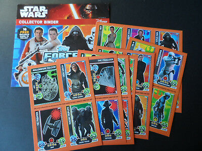 Topps Star Wars Attax Extra Awakens Promo Set And Collector Binder