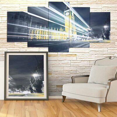 Modern 5-Panel Canvas Home Art Painting Picture Wall Decor Print Framed SG
