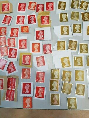 1st class unfranked stamps on and off paper with Minor Faults - FV £110 +