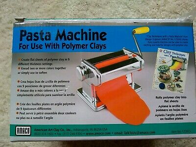 AMACO PASTA MACHINE For Use With Soft Metal Sheets And Polymer Clay # 12381S NEW