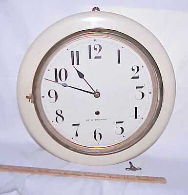 "Scarce Antique Seth Thomas ""Arctic"" Gallery Wall Clock Made In Usa, Time Only"