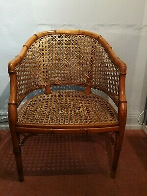 Antique Bamboo And Bergere Library Chair 19th Century Victorian