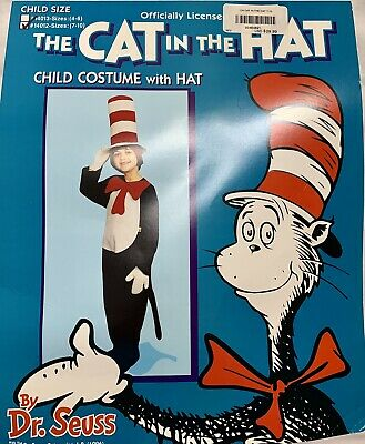 f7a8581d526f7d Child Size Officially Licensed Dr. Seuss Cat in the Hat Kids Costume Size 7-