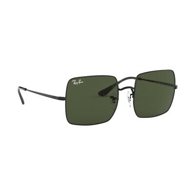 c1c6a4cf7af3 New Authentic Ray Ban Square Sunglasses RB1971 914831 Black Green Lens 54mm