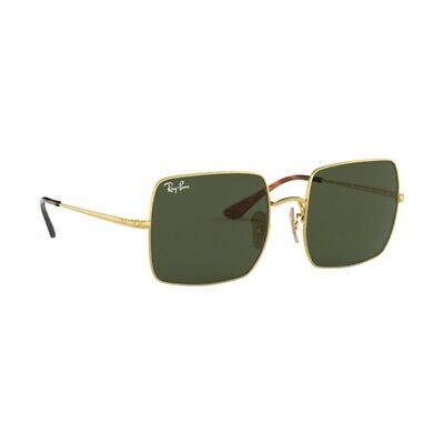 fe6c4d6c5f44 New Authentic Ray Ban Square Sunglasses RB1971 914731 Gold Green Lens 54mm