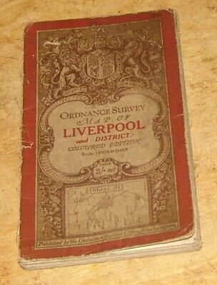 1913 Ordnance Survey Map of Liverpool and District, includes Southport & Chester