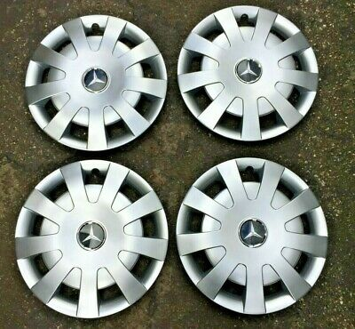 "4 x NEW MERCEDES SPRINTER W906 WHEEL TRIMS 16"" WHEEL HUB CAPS WITH LOGO 06 - 16"
