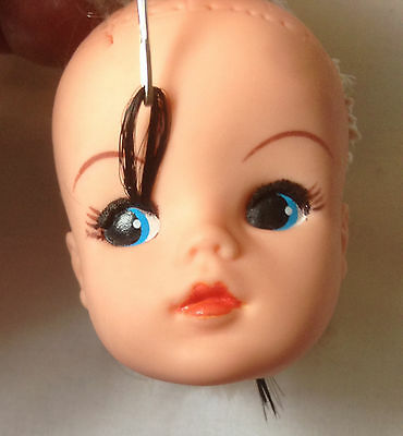 DARK BLACK DOLL hair for RE-ROOTING replacement EYELASHES ~ Sindy+Fashion Dolls