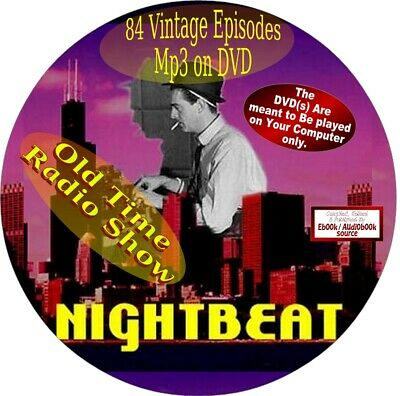 Night Beat Old Time Radio Show - 84 Vintage Episodes - Mp3 On Dvd - Mystery