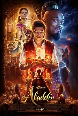 Aladdin 2019 27x40 Theatrical Movie Poster One Sheet DS Full Art