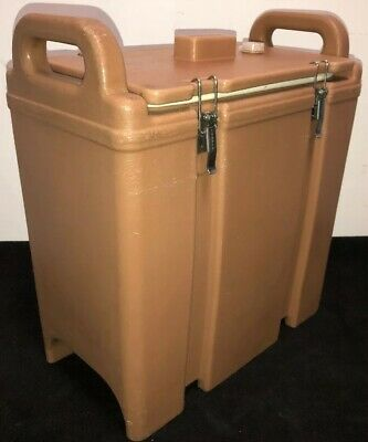 Cambro Tan Insulated Soup/Beverage Carrier 350LCD 3.3/8 Gallon Capacity. #11