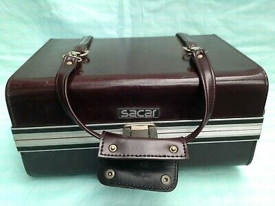 Vintage Sacar Luxury Leather and Metal Camera and Accessory Carrying Case