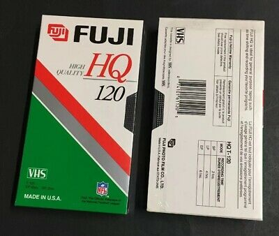 Two FUJI still sealed HQ 120 High Quality VHS Cassette Video Tapes