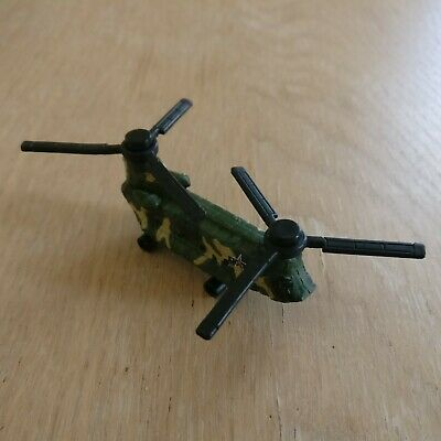 GALOOB MICRO MACHINES Military CHINOOK Helicopter Transport Dark Green Camo