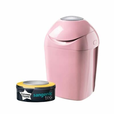 TOMMEE TIPPEE Sangenic Poubelle à Couches TEC Rose neuf