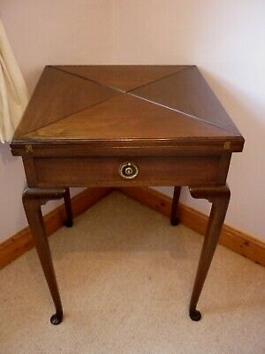 Antique Victorian  mahogany card/games table .
