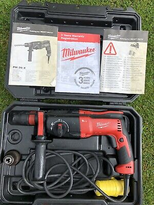 Milwaukee PH26X 2KG 26mm SDS Plus 3 Mode Combi Hammer Drill 110v