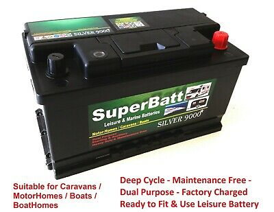 12V 100Ah Sb S100 Leisure Marine Battery Heavy Duty Low Height Dual Purpose