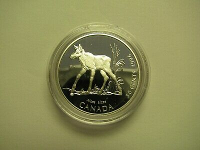 1996 Proof 50 cents Little Wild Ones #1-Moose Calf Canada COIN ONLY .925 silver