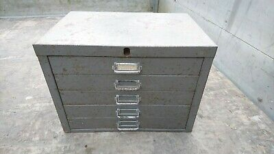 VINTAGE INDUSTRIAL METAL 6 DRAWER FILING CABINET STORAGE metal filing cabanit