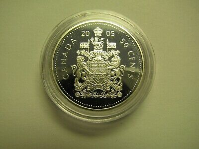 2005 Proof 50 cents from set Canada COIN ONLY .925 silver fifty