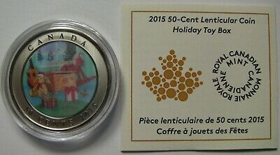 2015 SP Lenticular 50 cents Holiday #9-Toy Box Canada fifty half dollar holidays
