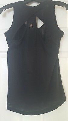 7dc39a23f85c0 Balance Collection size Small Black super cute cut-out open back tank design