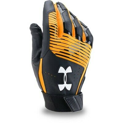 Under Armour Clean Up Batting Gloves Pair 1299530 - Black/Gold - XX-Large